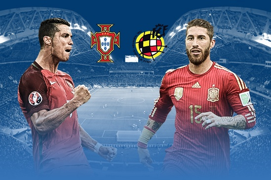 So sanh DT Bo Dao Nha va DT Tay Ban Nha: Ronaldo ganh ca doi hinh anh