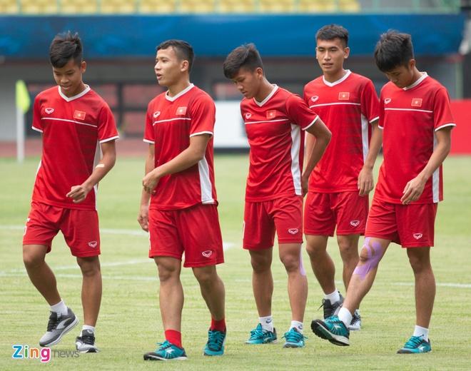 U19 Viet Nam tap buoi cuoi tai san thi dau trong tam trang hung khoi hinh anh 1