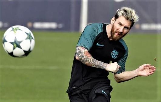 Tro lai sau chan thuong, Messi ghi ban de dang khi da tap hinh anh