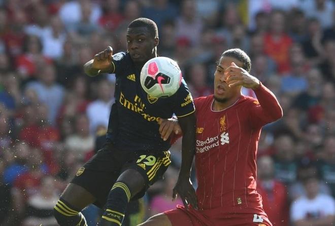 Sao Arsenal cham dut ky luc khong bi qua nguoi cua Van Dijk sau 6 phut hinh anh 1