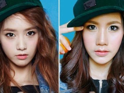 Hot girl Thai Lan hoa trang thanh Yoona hinh anh