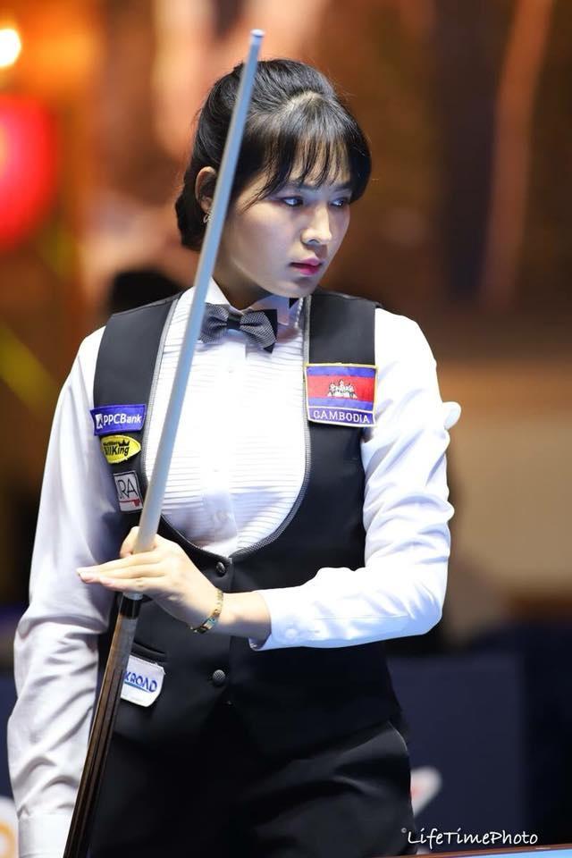 Nu co thu Campuchia xinh dep, tung vo dich giai billiards chau A hinh anh 3