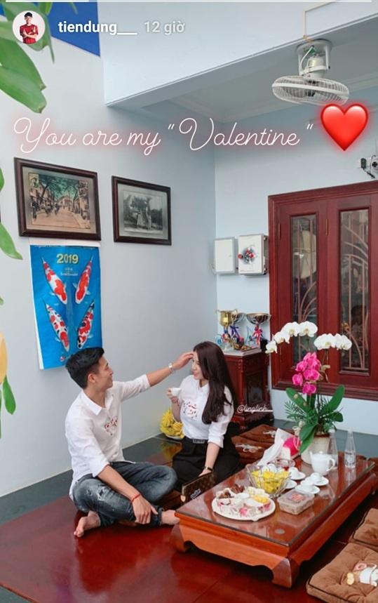Tien Linh, Tien Dung tang vong vang, Dinh Trong don Valentine o Han hinh anh 3