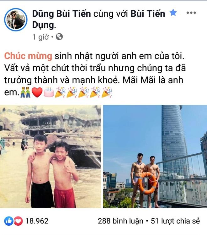 Bui Tien Dung khoe anh day thi thanh cong, mung sinh nhat em trai hinh anh 2