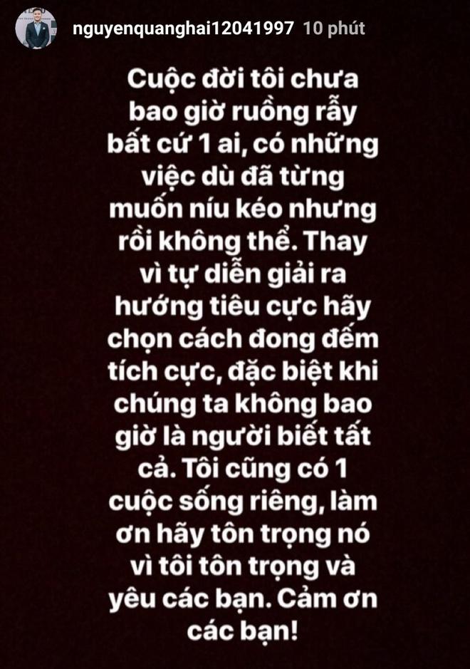 Quang Hai noi ve tin don tinh cam: 'Toi chua bao gio ruong ray ai' hinh anh 1 q33.jpg