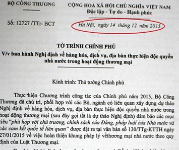 Bo Cong Thuong trinh van ban tu thoi ong Vu Huy Hoang anh 1
