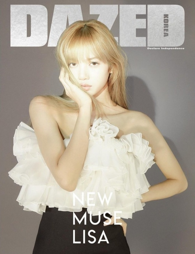 Lisa bi che bop mat qua da, Jennie trang diem nu tinh tren bia tap chi hinh anh 3 Lisa_for_Dazed_Korea_Magazine_Cover_February_2019_Issue_lisa_blackpink_41973895_730_913_1.jpg