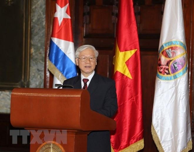 Tong bi thu Nguyen Phu Trong nhan bang tien si danh du tai Cuba hinh anh 2