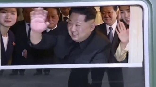 Hinh anh hiem hoi ve chuyen di Trung Quoc cua ong Kim Jong Un hinh anh 1