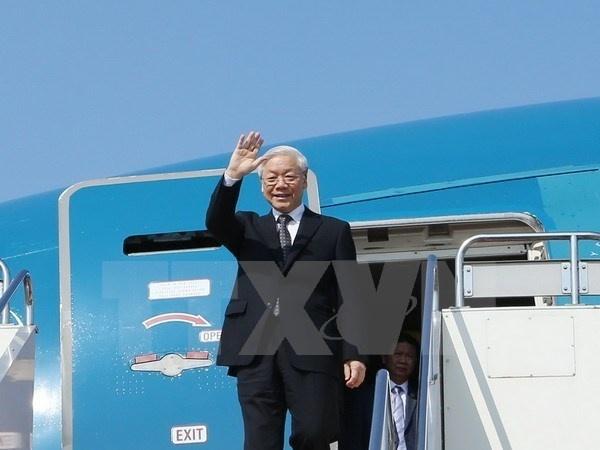 Tong bi thu Nguyen Phu Trong len duong tham Nga hinh anh 1