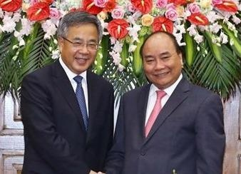 Thu tuong Nguyen Xuan Phuc tiep Pho thu tuong Trung Quoc hinh anh