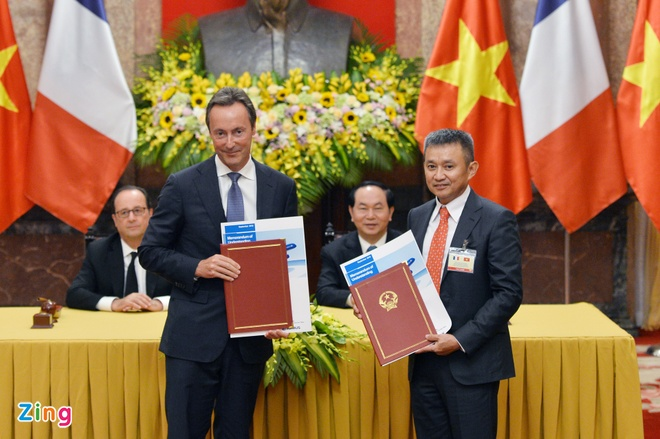 Hang khong Viet Nam chi 6,5 ty USD mua may bay cua Airbus hinh anh 1