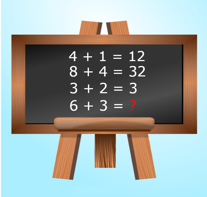 Neu 4 + 1 = 12 thi 6 + 3 bang bao nhieu? hinh anh 1