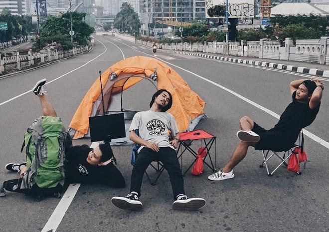 101 canh song ao cua cu dan Jakarta khi thanh pho khong nguoi hinh anh