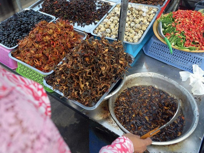 Kham pha dac san con trung chien gion cua Campuchia hinh anh