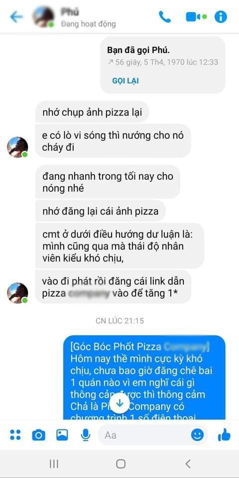 Lo tin nhan admin nhom review do an dung canh boi xau nha hang hinh anh 2