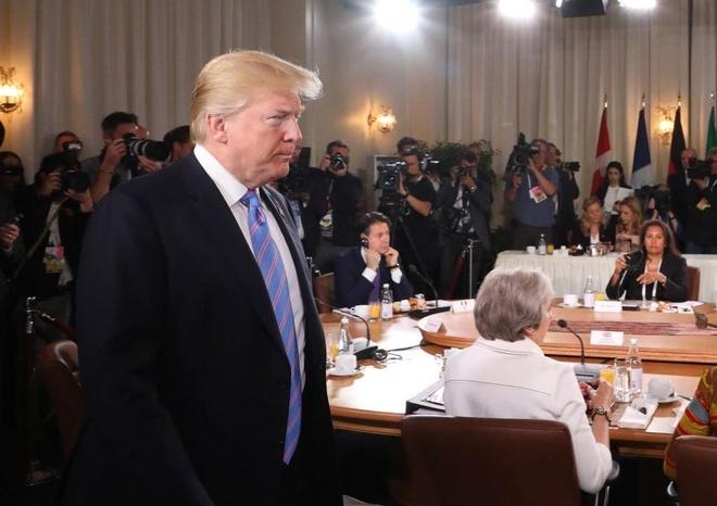 Trump rut khoi tuyen bo chung voi G7 hinh anh