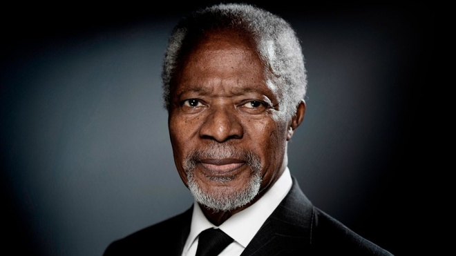 Kofi Annan - vi tong thu ky LHQ mot doi tan tam vi hoa binh the gioi hinh anh