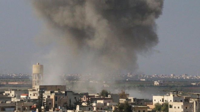 Syria to My khong kich lan thu 2 trong thang, hon 60 nguoi thiet mang hinh anh