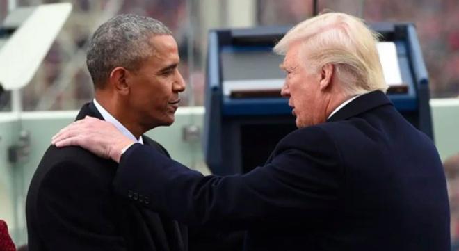 Obama - Trump doi dau gay gat truoc bau cu giua ky hinh anh