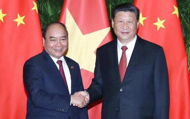 Thu tuong Nguyen Xuan Phuc hoi kien Chu tich Trung Quoc Tap Can Binh hinh anh