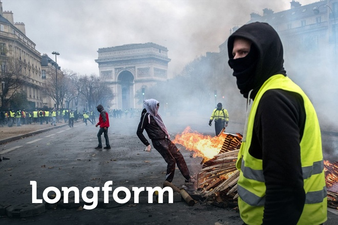 Paris tan hoang sau bao loan va con ac mong cua Macron hinh anh