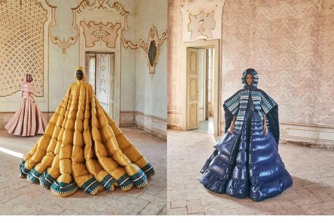 Moncler lấn át các nhà mốt khác với thiết kế áo phao ngoại cỡ độc đáo