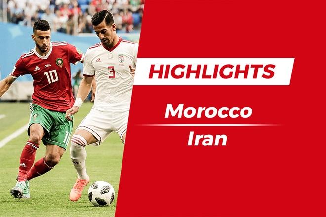 Highlights Morocco - Iran: Pha phan luoi nha phut 95 hinh anh