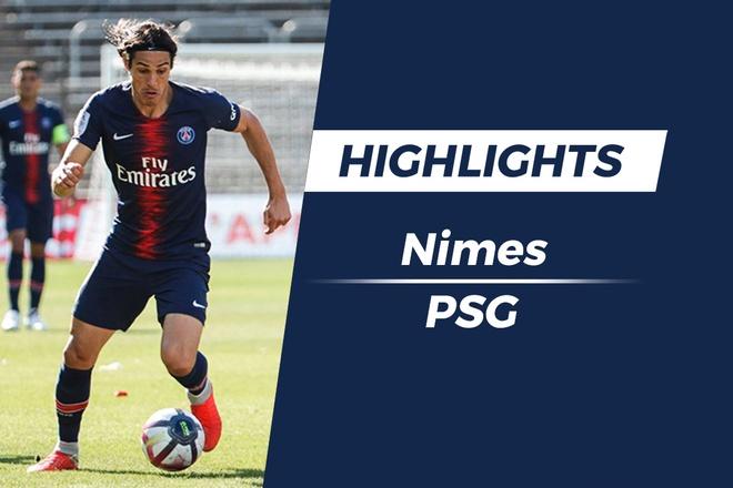Highlights Nimes - PSG: Di Maria ghi ban tu phat goc hinh anh