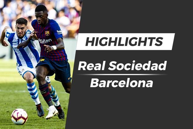 Highlights Real Sociedad - Barcelona: Cu dup phat goc hinh anh