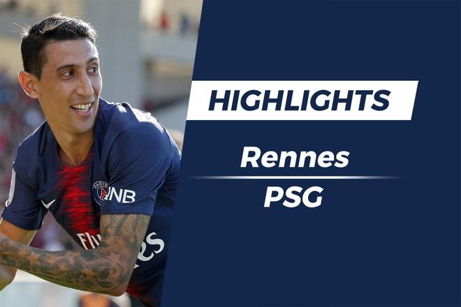 Highlights Di Maria sut xa ghi ban, PSG nguoc dong thang Rennes hinh anh