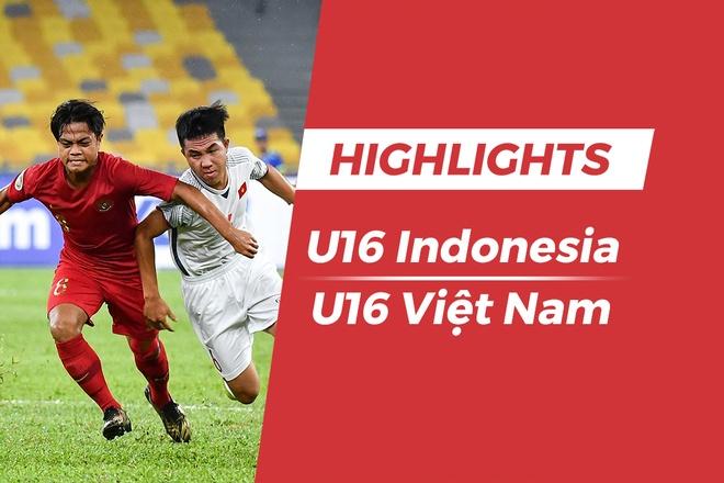 Highlights U16 Indonesia 1-1 Viet Nam: Hang thu long leo hinh anh