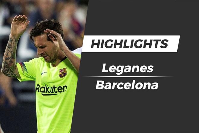Highlights Pique mac sai lam, Barca thua nguoc Leganes hinh anh