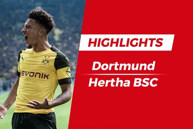 Highlights sao tre 18 tuoi lap cu dup, Dortmund hoa dang tiec Hertha hinh anh