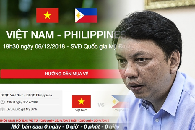 VFF giai thich quy trinh ban ve online tran ban ket AFF Cup hinh anh