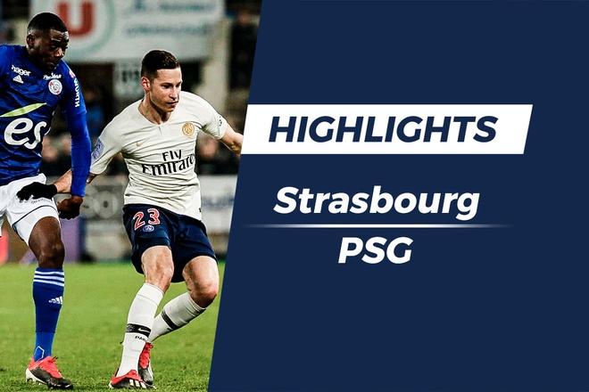 Highlights Strasbourg 1-1 PSG: Doi khach hoa tran thu hai lien tiep hinh anh