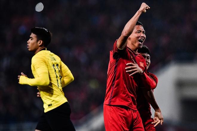 Tình huống Anh Đức mở tỷ số trong trận gặp Malaysia