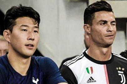 Khoanh khac Son Heung-min doi ao voi than tuong Ronaldo hinh anh