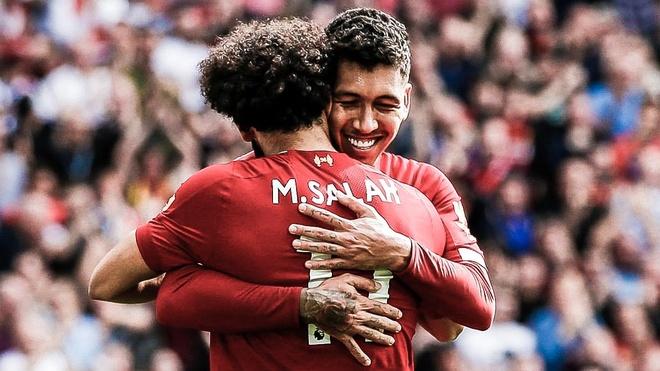 Firmino giật gót kiến tạo cho Salah ghi bàn