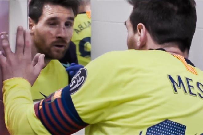 Khuon mat bam dap cua Messi duoc he lo hinh anh