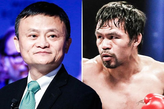 Ty phu Jack Ma lap doi voi Pacquiao, thach thuc Mayweather hinh anh