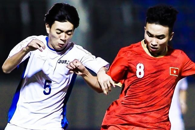 Highlights U21 Viet Nam 1-2 Sinh vien Nhat Ban hinh anh