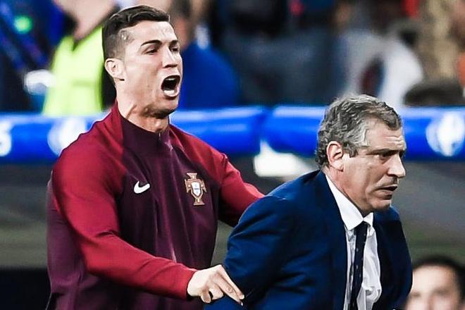 HLV Bo Dao Nha kho chiu khi bi hoi ve Ronaldo hinh anh