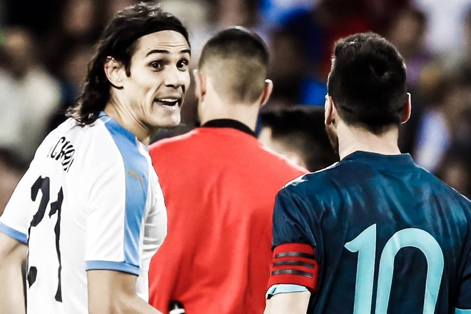 Messi, Aguero, Suarez va Cavani cung ghi ban trong mot tran hinh anh