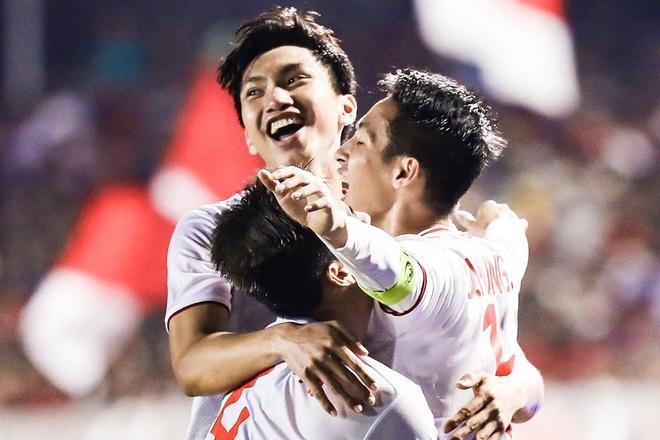 Highlights chung ket bong da SEA Games 30: U22 Viet Nam 3-0 Indonesia hinh anh