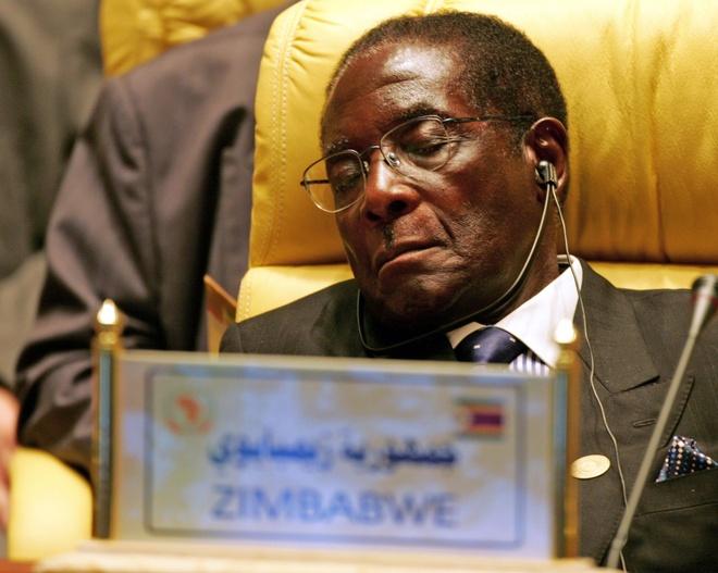 Nhung lan ngu gat cua tong thong Zimbabwe hinh anh