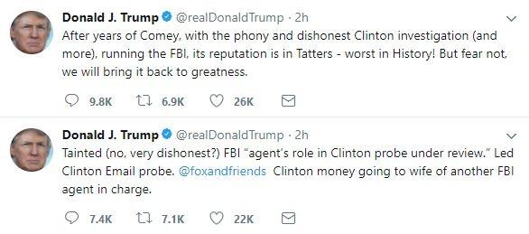 Trump chi trich FBI kich liet tren Twitter hinh anh 1