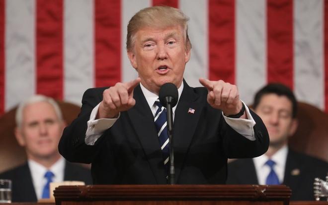 Trump sap doc thong diep lien bang dau tien: Nuoc My da tro lai hinh anh 1