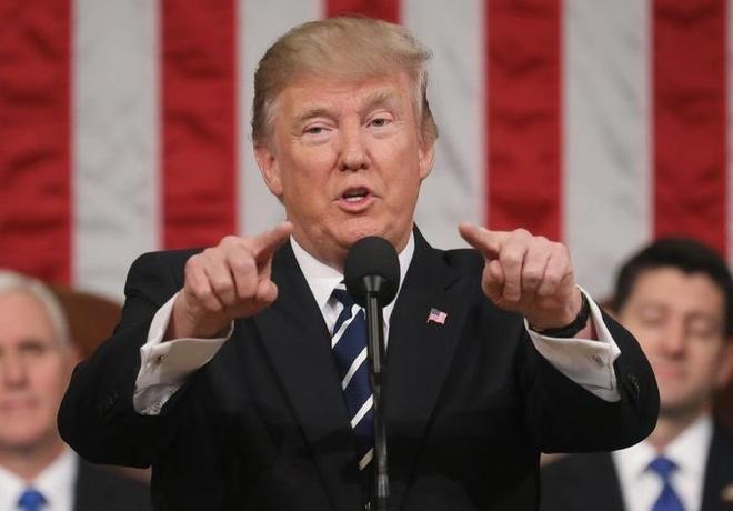 Trump sap doc thong diep lien bang dau tien: Nuoc My da tro lai hinh anh