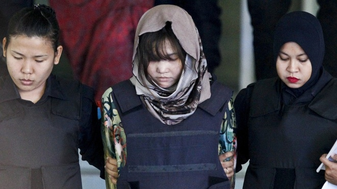 Canh sat Malaysia: Khong de 2 bi cao vu Kim Jong Nam lam 'tot thi' hinh anh
